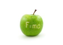 Apple with formula royalty free stock photo