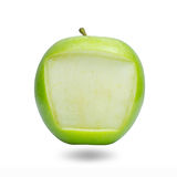 Apple frame for note pad.  Stock Image