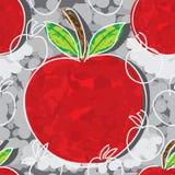 Apple free style seamless pattern Stock Image