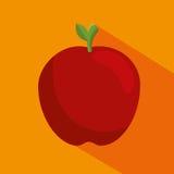 Apple fresh fruit icon Royalty Free Stock Images