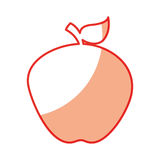 Apple fresh fruit icon Stock Images