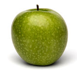 Apple. Fresh green apple a white background Royalty Free Stock Photography