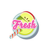 Apple Fresh. Vector Illustration Stock Photo