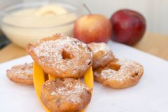 Apple fritters Stock Images