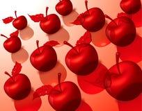Apple fruit. Group freshness color apple fruit Stock Photos