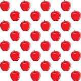 Apple fruit contour abstract seamless pattern on white background Royalty Free Stock Image