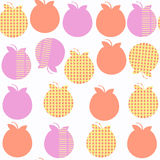 Apple  fruit   fantasy seamless pattern. It is located in swatch. Menu,  image. Cute tile backdrop for design. Abstract background. Vector Stock Photography