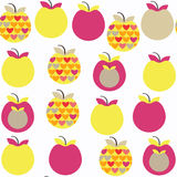 Apple  fruit   fantasy seamless pattern. It is located in swatch. Menu,  image. Cute tile background for design. Abstract backdrop. vector Stock Photos