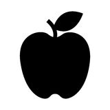 Apple fruit fresh isolated icon Stock Photo