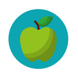 Apple fruit fresh isolated icon Royalty Free Stock Images