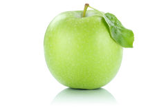 Apple fruit green isolated on white Royalty Free Stock Photography