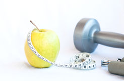 Apple fruit and Gym Stock Images