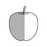 Apple fruit icon Royalty Free Stock Photos