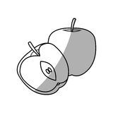Apple fruit icon Royalty Free Stock Images