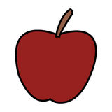 Apple fruit icon Stock Images
