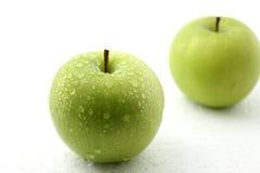 Apple fruit isolated on white background. Royalty Free Stock Images