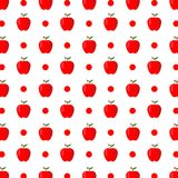 Apple Fruit Pattern Background. Hand Drawn Vector Illustration. Isolated on white background Stock Images