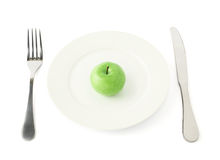 Apple fruit in a plate isolated Stock Photography