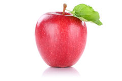 Apple fruit red isolated on white Royalty Free Stock Images