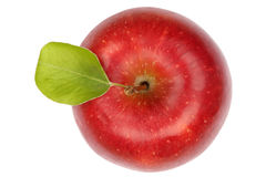 Apple fruit red top view isolated on white Stock Photography
