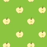 Apple fruit seamless background Stock Image
