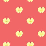 Apple fruit seamless background Stock Images