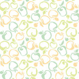 Apple fruit seamless pattern for fabric, Royalty Free Stock Photography