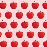 Apple fruit seamless pattern. Illustration eps 10 Stock Photos