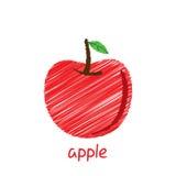 Apple fruit, sketch design Stock Photo