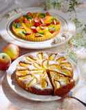 Apple and fruit tart Royalty Free Stock Images