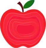Apple-fruit vectordieillustratie met lagen wordt verfraaid Royalty-vrije Stock Afbeelding