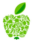 Apple from fruit and vegetables Stock Photography