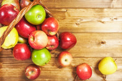 Apple fruits in basket Royalty Free Stock Image