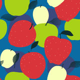 Apple fruits seamless pattern. Red, green and golden apples Royalty Free Stock Photos