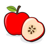 Apple Fruits Whole And Sliced Royalty Free Stock Images