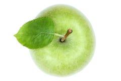 Apple fruttifica verde di vista superiore isolato su bianco Fotografia Stock