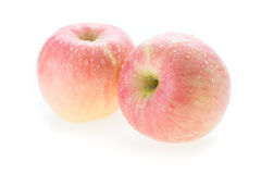 Apple fuji fruit with water drops Stock Photography