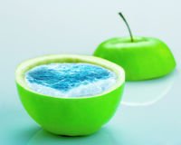 Apple full of water Royalty Free Stock Photos