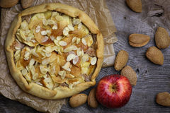 Apple Galette Crostata Cake Sweet Dessert Pie Royalty Free Stock Photography