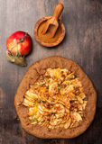Apple Galette. Homemade pie with apples Stock Photography