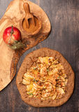 Apple Galette. Homemade pie with apples Stock Photo