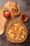 Apple Galette. Homemade pie with apples Stock Images