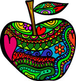 Apple garabatea ilustración del vector