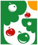 Apple garden, vector Royalty Free Stock Photo