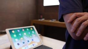 Apple Genius scanning iPhone X Box