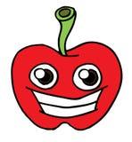 Apple-Gesicht Schwarzweiss Stockfotografie