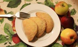 Apple gevulde Empanadas voor Woestijn Royalty-vrije Stock Foto