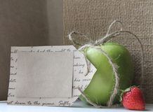 Apple gift from the heart Stock Photo