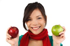 Apple girl Stock Photo