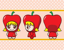 Apple Girl Royalty Free Stock Image